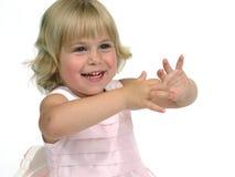 rosa litet barn för klänning Royaltyfri Foto
