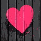 Rosa ljus hjärta royaltyfri illustrationer