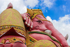 Rosa lordganesha i samarntempelchachoengsaoen Thailand Royaltyfria Foton