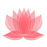 Rosa lotusblommablomma element för klockajuldesign du kan använda som en logo royaltyfri illustrationer