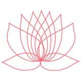 Rosa lotusblommablomma element för klockajuldesign du kan använda som en logo stock illustrationer