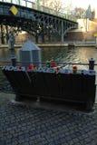 Rosa Luxemburg minnesmärke, berlin, Tyskland Arkivbilder