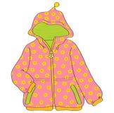 Rosa Mädchen ` Jacke stock abbildung