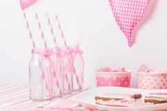 Rosa Mädchenpartei stockfoto