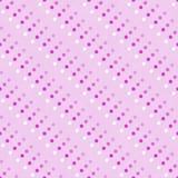 Rosa mångfärgad och vit polka Dot Abstract Design Tile Patt Fotografering för Bildbyråer