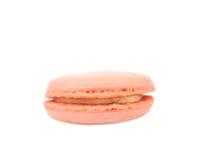 Rosa macaron Kuchen Makro Lizenzfreies Stockfoto