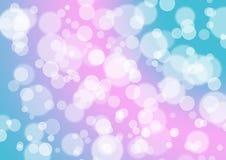 Rosa magentafärgad turkosgräsplan Bokeh blänker ballongabstrakt begrepp tillbaka Royaltyfri Foto