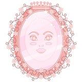 Rosa magischer Spiegel Stockbilder
