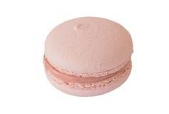 Rosa Makrone, Macaron auf Weiß Lizenzfreie Stockfotografie