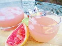 Rosa Margarita Cocktail Drink yttersida arkivfoton