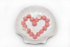 Rosa Marmelade im Zucker Lizenzfreie Stockbilder