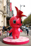 Rosa a mascote Fotografia de Stock