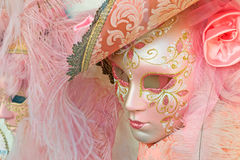 Rosa maskeringar royaltyfria foton