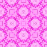 Rosa Medaillon alles über nahtlosem Muster Handabgehobener betrag lizenzfreie stockbilder