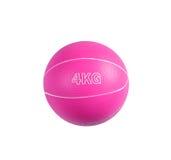 Rosa Medizinball für Eignung Lizenzfreies Stockbild