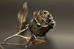 Rosa metálica Foto de Stock Royalty Free