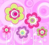 Rosa mit Blumenverzierung Stockfoto
