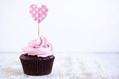 Rosa muffin Fotografering för Bildbyråer