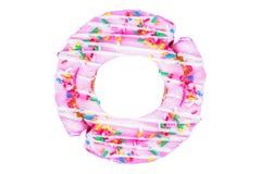 Rosa munksockertoppning som är färgrik godisen mellanmål, ferie, isolerade vit bakgrund arkivbild