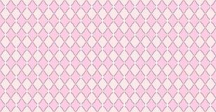 Rosa Muster mit Rauten und weißen Punktsternen Festes elegante Heiratshintergrund stock abbildung