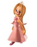 rosa nätt princess toon Royaltyfria Bilder