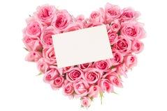 Rosa na forma do amor fotos de stock
