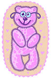 rosa nalle för björn Royaltyfri Fotografi