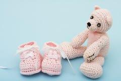 rosa nalle för björn fotografering för bildbyråer