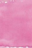 Rosa natürliche handgemachte Watercolouraquarell-Malereibeschaffenheit, nahaufnahme-Kopienraum des vertikalen strukturierten Aqua Stockbild