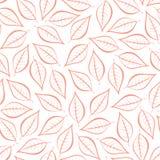 Rosa natürlicher Hintergrund des Herbstes von den Konturen von rosa Blättern Nahtloser dekorativer eco Hintergrund Klimamuster mi stock abbildung