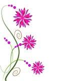 Rosa nejlikablommor royaltyfri illustrationer