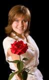 Rosa nel fuoco Fotografia Stock