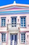Rosa neoklassisches Haus Redaktionelles Bild Lizenzfreie Stockbilder