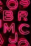 Rosa Neon-Buchstaben (3) Stockfotos