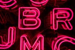 Rosa Neon-Buchstaben (4) Lizenzfreie Stockfotos