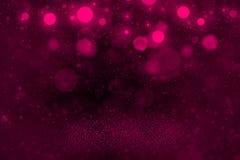 Rosa nettes glänzendes Funkelnlichter defocused bokeh abstrakter Hintergrund mit fallenden Schneeflocken fliegen, festal Modellbe lizenzfreie abbildung
