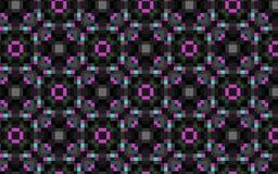 Rosa no teste padrão de repetição geométrico preto Foto de Stock Royalty Free