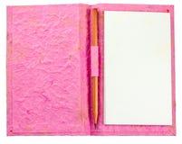 Rosa Notizbuch des Schmutzes Lizenzfreie Stockfotografie