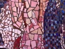 Rosa och blå bakgrund för mosaiktextur arkivbilder