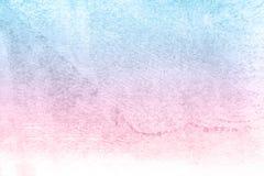 Rosa och blå pappers- vattenfärgbakgrund, härlig idérik planet royaltyfri illustrationer