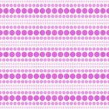 Rosa och vita lodisar för polkaDot Abstract Design Tile Pattern repetition Arkivbilder
