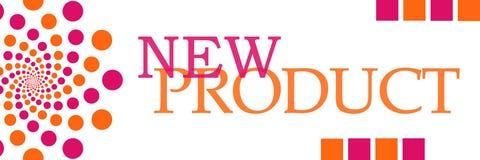 Rosa orange runt horisontal för ny produkt royaltyfri illustrationer