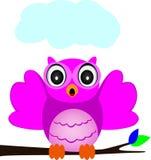 Rosa owl Arkivbilder