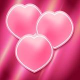 Rosa-pétala-página-folheto-molde-brilhante-cor-de-rosa-fundo ilustração do vetor