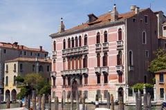 Rosa Palazzo Canale gran Venedig Fotografia Stock Libera da Diritti