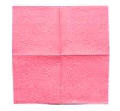 Rosa pappers- servett Fotografering för Bildbyråer