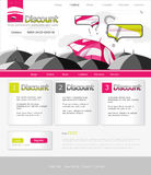 rosa paraplywebsite Royaltyfri Bild