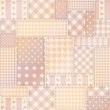Rosa patchwork av rektanglar Arkivfoton