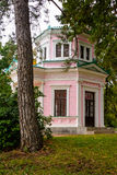 Rosa Pavillon im Sofievka Park Uman; Ukraine Lizenzfreie Stockfotografie