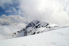 Rosa peak in Rosa Khutor (Krasnaya Polyana) Royalty Free Stock Photography